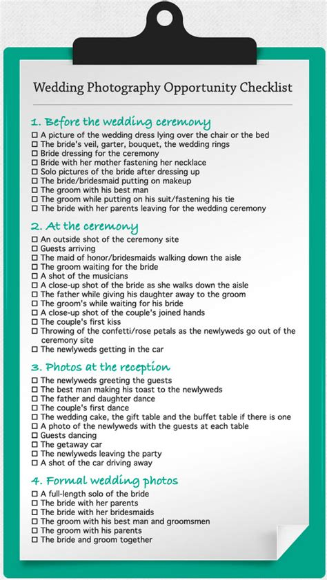 wedding photo list wedding photo checklist wedding ideas