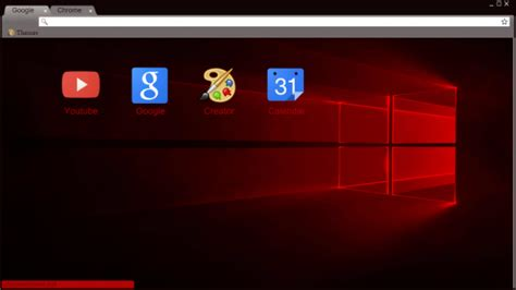 theme windows 10 chrome windows 10 theme red chrome theme themebeta