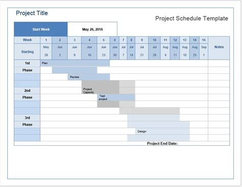 one page project manager excel template download template project