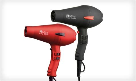 barbar italy 4800 ionic blow dryer red barbar italy ionic blow dryer groupon goods