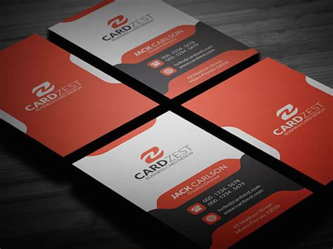 information card template psd 20 amazing free creative business card templates