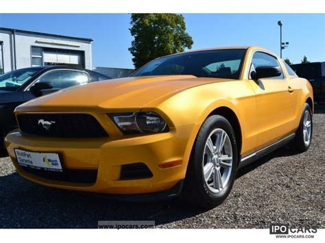 2012 ford mustang 3 7l v6 coupe premium leather yellow