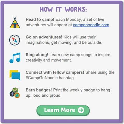 the sharpened pencil: camp gonoodle