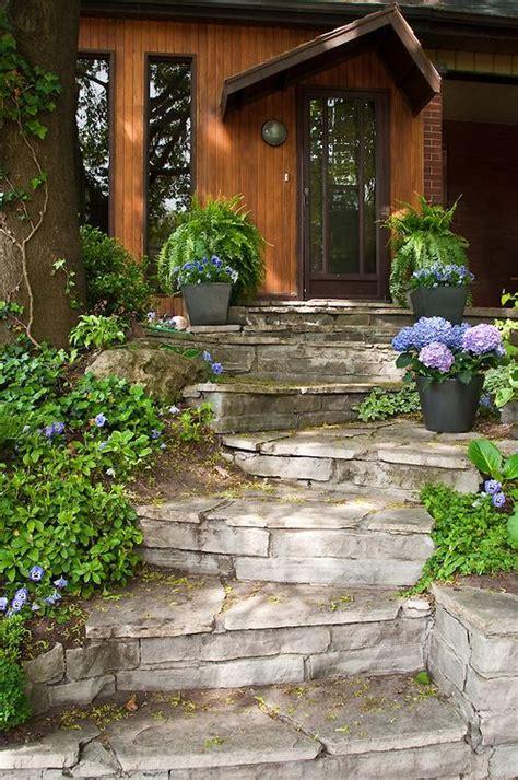 front yard garden stone steps secret garden pinterest