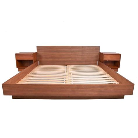 mid century modern king bed danish modern teak platfom bed king size mid century