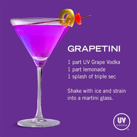grapetini recipe simple syrup signature cocktail and