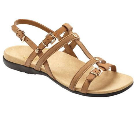 qvc orthaheel shoes vionic w orthaheel leather t sandals coro