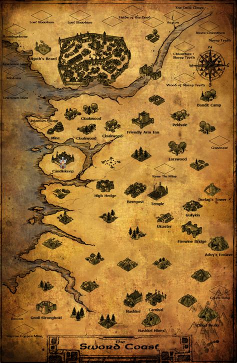 baldur s gate map baldur s gate path of the lost odyssey alpha map by
