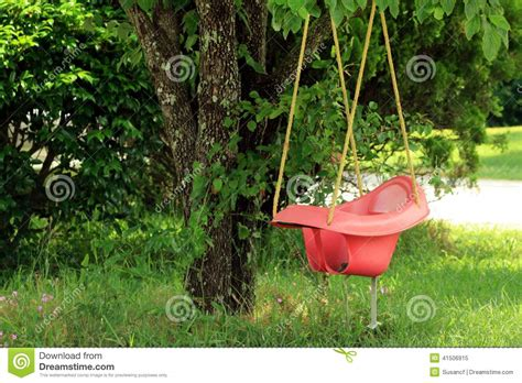 how to hang a baby swing without a tree swing stock photo image 41506915