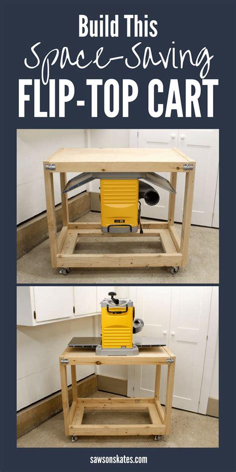 diy flip top workbench cart pin saws  skates