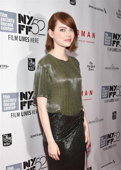 emma stone latest news emma stone at birdman screening at 52nd new york film