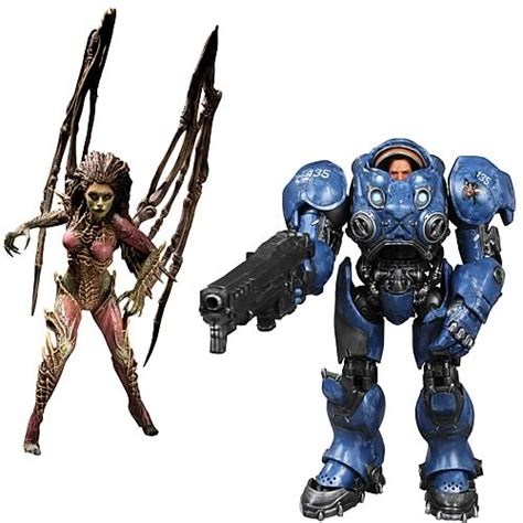 Figure Heroes Of The Starcraft starcraft premium series 2 figure set dc collectibles starcraft figures at