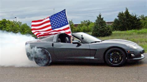 4th of july corvette burnout merica corvettevideos tv