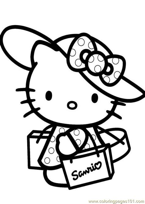 hello kitty coloring pages you can print hello kitty 1 printable coloring page for kids and adults