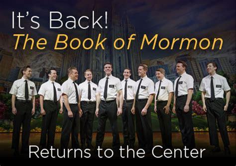 book of mormon standing room revue the book of mormon