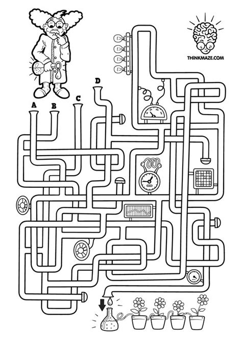 printable science maze 58 best jeux de labyrinthe images on pinterest free
