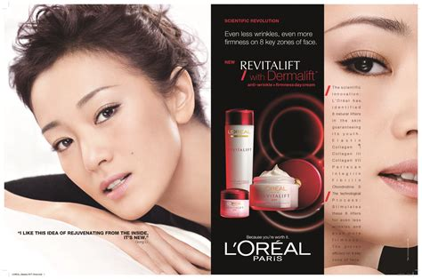 Loreal Dermalift gong li in revitalift with dermalift by