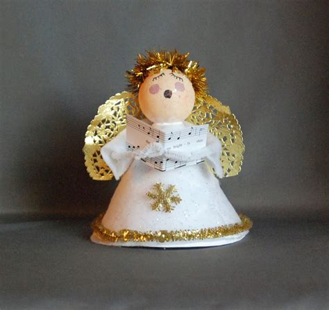 easy angel carolers angel ornaments pinterest crafts