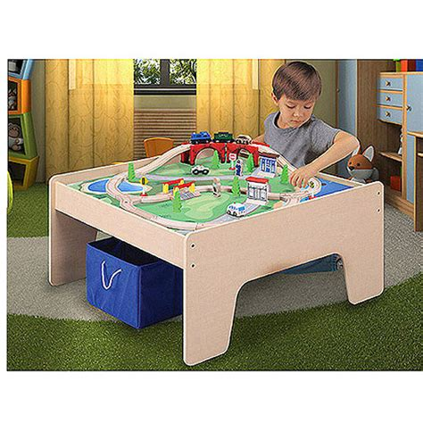 Activity Table With Storage by Wooden Activity Table With 45 Set Storage