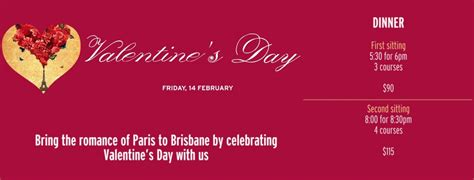 valentines brisbane where s the best s day dining in brisbane