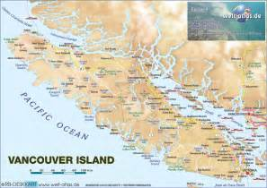 vancouver canada on world map map of vancouver island canada map in the atlas of the