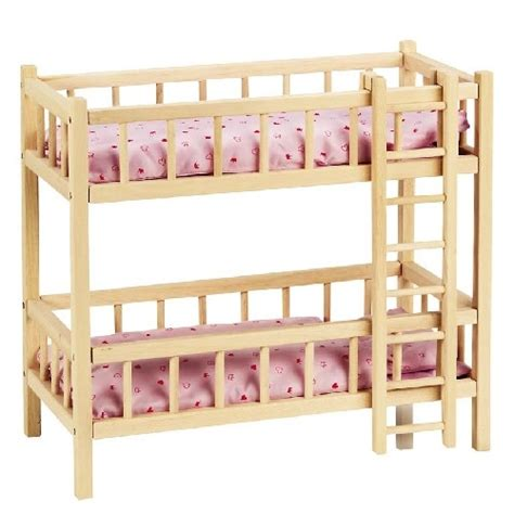 Wooden Bunk Beds For Dolls Goki Doll S Wooden Bunk Bed With Ladder 59cm