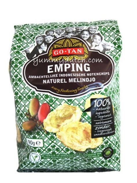 emping original melindjo nuts chips  tan yummy dutch