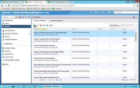 Vrops Report Templates usage report template templates station