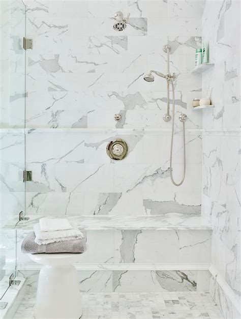 marble shower shelves design ideas