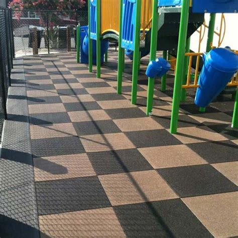 Playground Tiles   Rubber Playground Tiles, 2.75 In