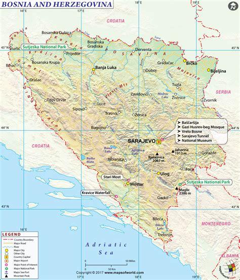 map of bosnia bosnia map bosnia and herzegovina map
