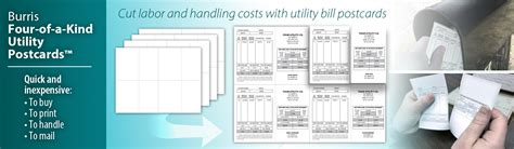 printable perforated postcards utility bill postcards perforated postcards tear away