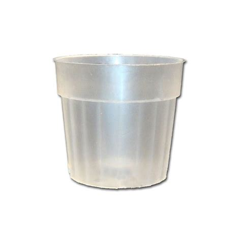 Plastic Planter Pots by 3 Quot Rigid Fluted Clear Plastic Planter