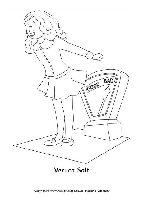 Veruca Salt Colouring Page Willy Wonka Coloring Page