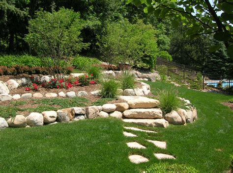 landscaping a hill triyae com retaining wall backyard hill various design