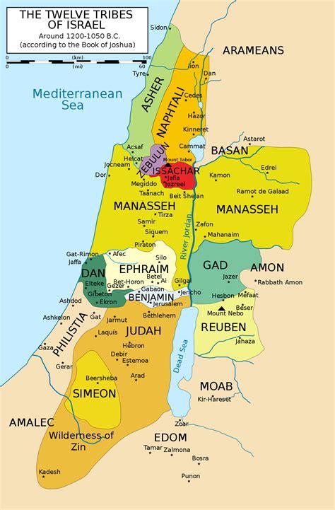 israel map today twelve tribes of israel