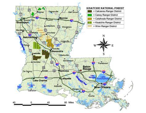 kisatchie louisiana map kisatchie national forest