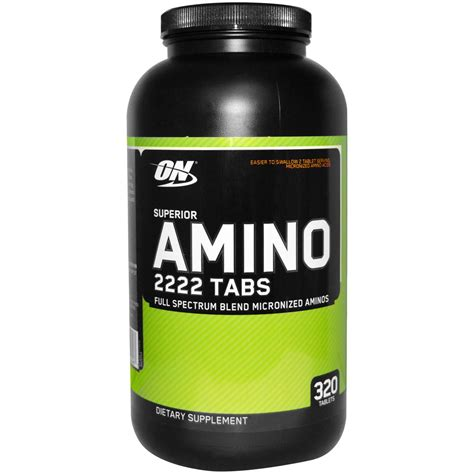 Amino On 2222 320 Tabs On Amino optimum nutrition superior amino 2222 tabs 320 tablets iherb