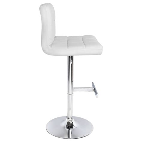 White Leather Bar Stool White Leather Bar Chairs Kbdphoto
