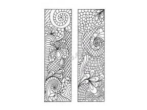 coloring bookmarks printable bookmarks zentangle inspired diy zendoodle