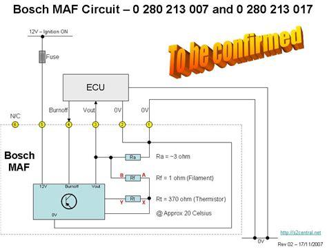 bosch maf sensor wiring diagram bosch air flow meter