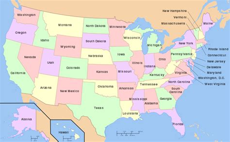 scale map of the united states political divisions of the united states the