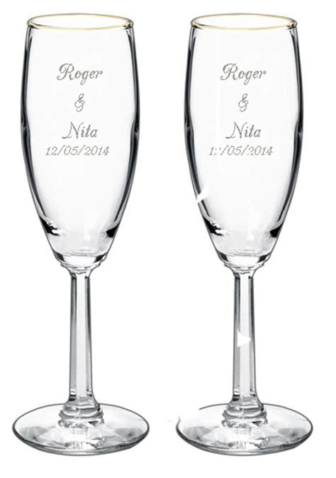 Wedding Gift Engraving Ideas by Wedding Flute Engraving Ideas