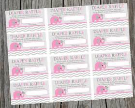 Instant download printable diaper raffle tickets by cohenlane