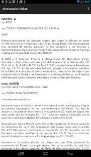 Diccionario Bíblico en Español - Apps en Google Play