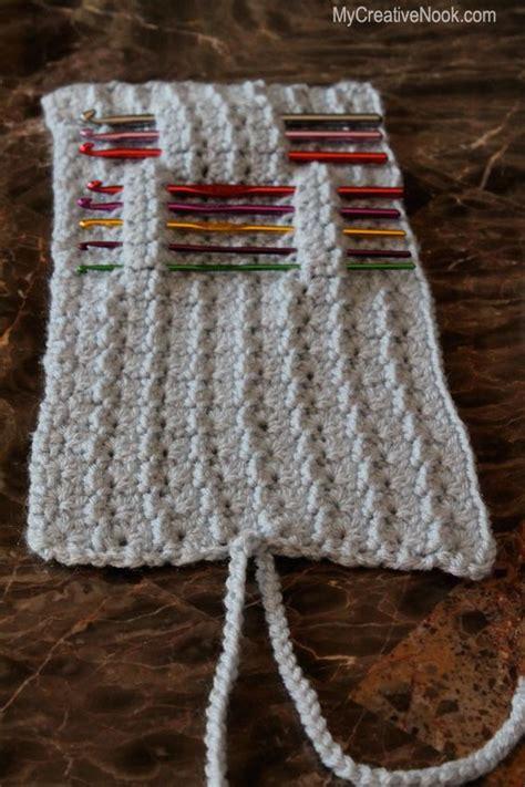 pattern needle holder crochet hook or knitting needle holder knit crochet