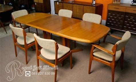 Meja Makan Jati Minimalis Model Sederhana meja makan minimalis jati modern royal jati klasik