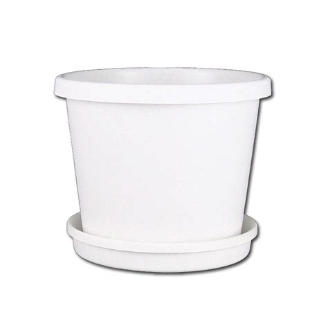 white planter pots plastic planter with saucer 10 quot white
