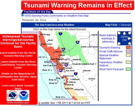 san francisco tsunami map tsunami warning san francisco california