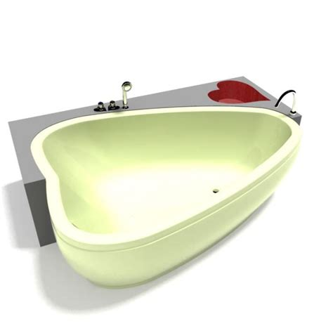 heart bathtub heart shaped bathtub 3d model cgtrader com